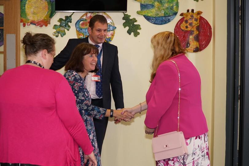 Mrs Hall, Mrs Claris & Mr Whiteley meet the Mayor.