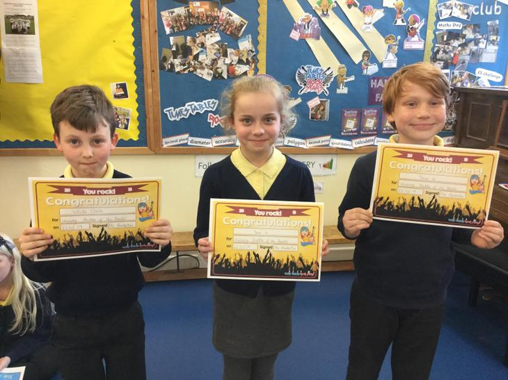 Year group 'Battle of the Bands' winners