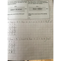 Y5 - finding the area using long multiplication