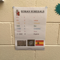 Roman Numerals displayed around school