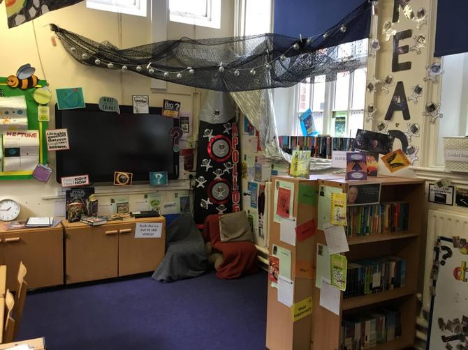 Our Rocket Reading Corner