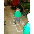 Learning to play hopscotch