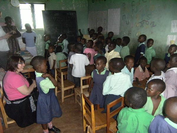 Younger children at our link school in Nyabondo