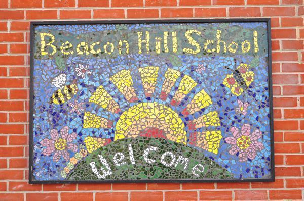 Mosaic designed by the children