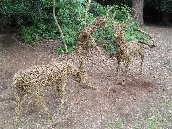 Willow sculptures made by the children