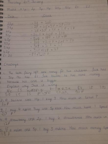 Elias's Maths and challenge 21.01