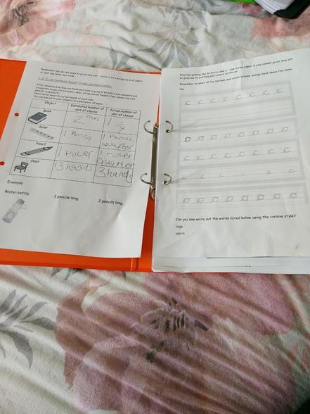 Jaxon's Maths & Handwriting 12.01