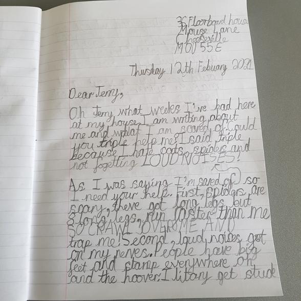 Oliver's Letter 1
