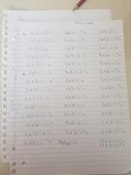 Harry's times tables