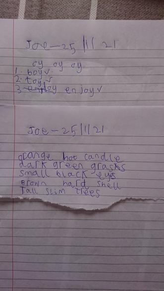 Joe's English 25.01