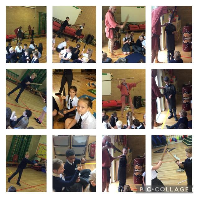 We had lots of fun exploring Roman weapons!
