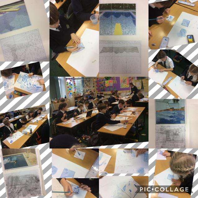 We have been using different techniques to recreate images in the style of David Hockney.