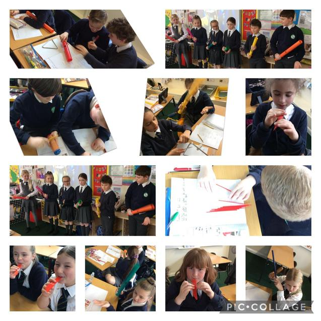 We made panpipes to test out our theory on how to change the pitch of a sound.