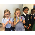 We received new toothbrushes and toothpaste!