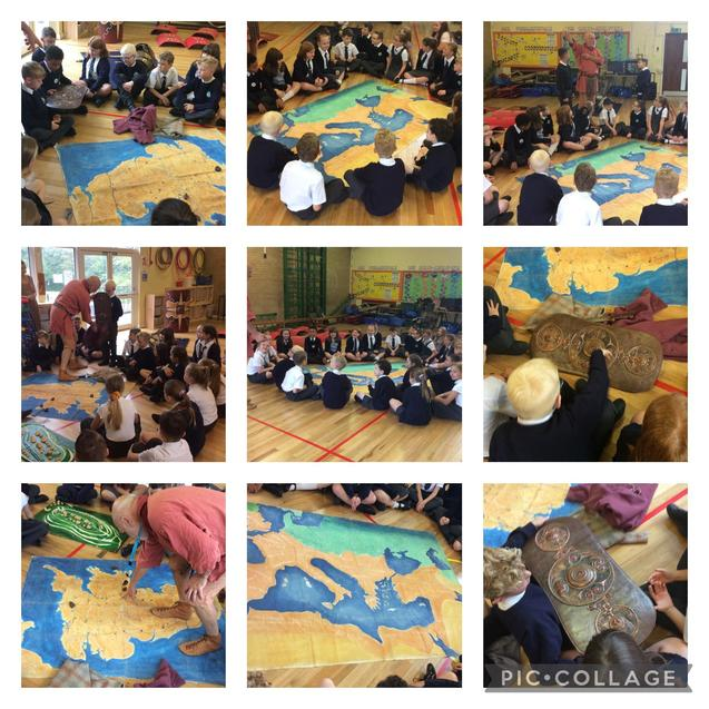 We discovered where the Romans came from and where they went.