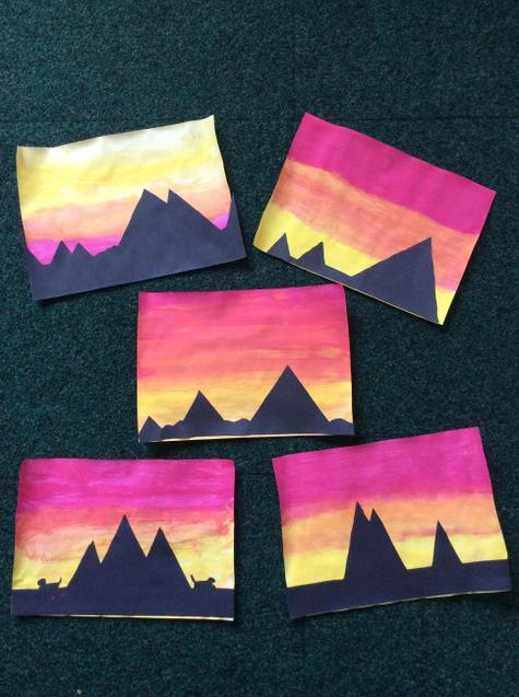 Look at our finished sunsets! AMAZING!