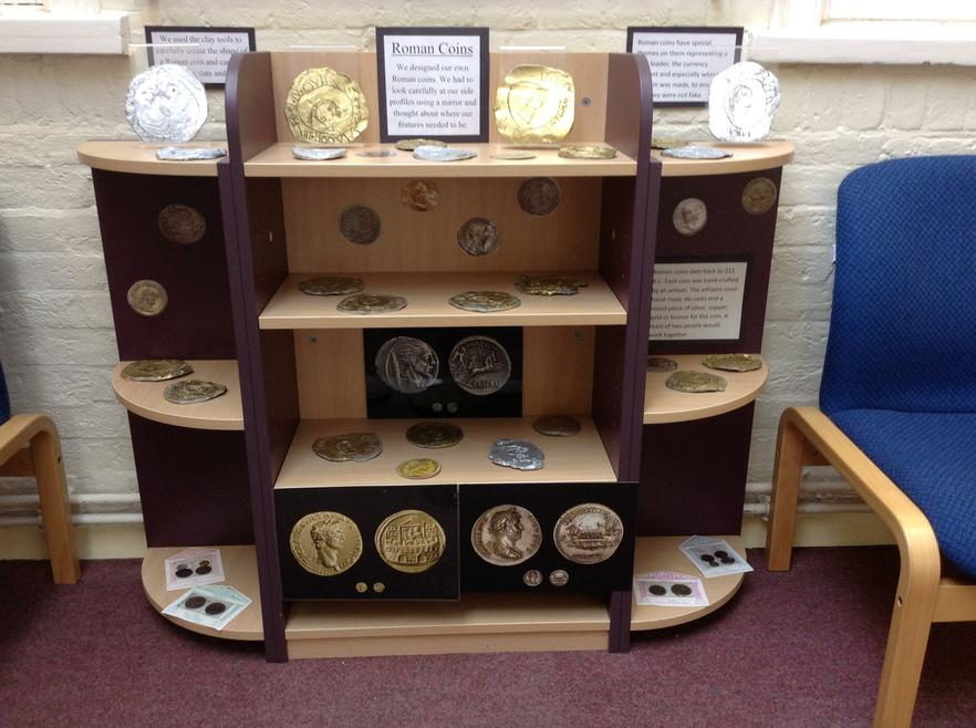 Roman coin display