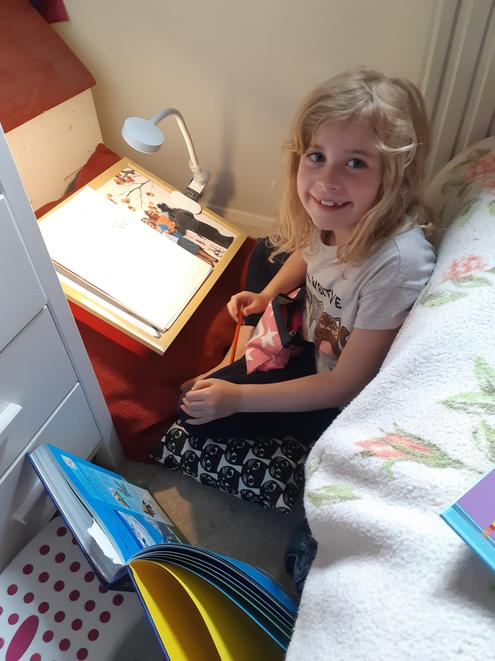 I love your den Olivia! Very cosy for learning!
