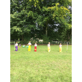 Girls sack race.