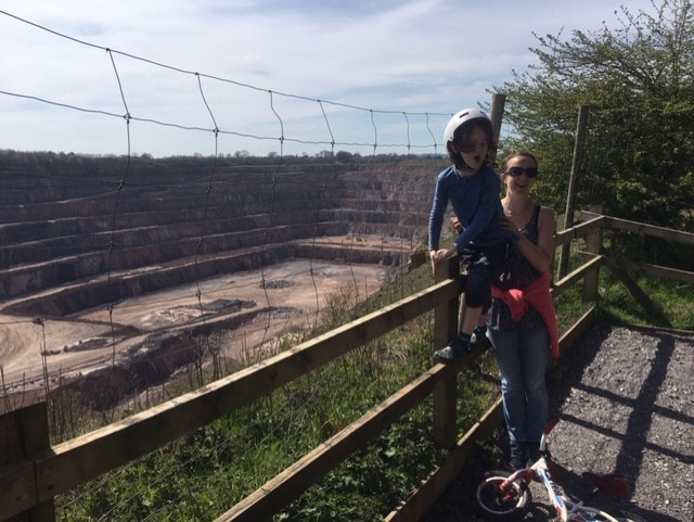 Looking at the quarry!