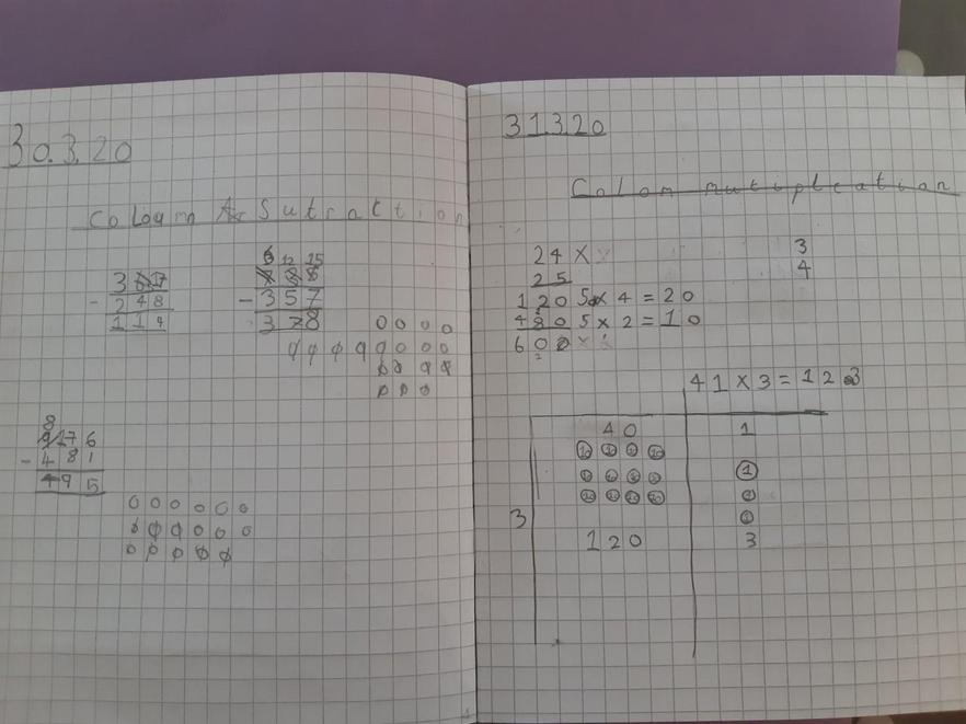 Wow! Amazing written methods for x and -.