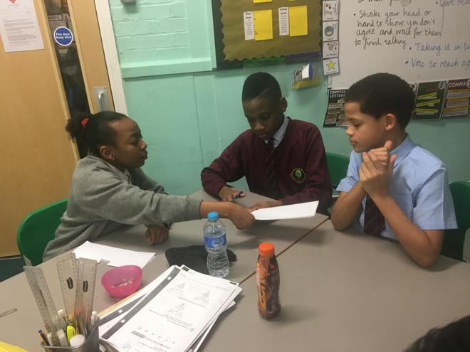 This is one group discussing a possible solution.