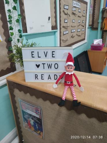 14/12/2020- The naught elf made a visit to Reception classes today.