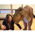 Mrs Lucas and Millie the T Rex have a little chat!