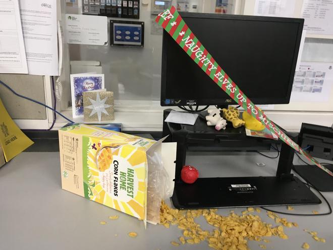 11/12/2020- Poor Mrs Halliday look what happened to her desk.