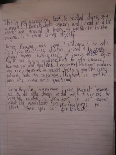 Ayman's review of Diary of a Wimpy Kid