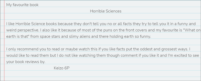 Keizo's review of Horrible Sciences (pictured to the right)