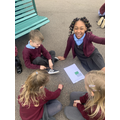 We tested various materials on the playground floor.