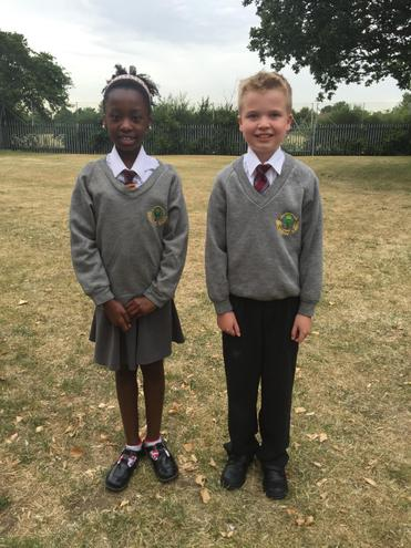 Year 6 pupils in their 'Buddy' uniforms