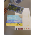 We painted a picture described by our teacher
