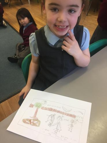 'I love school because I can see my friends'.