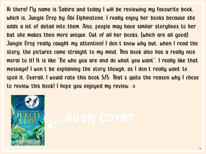 Sabira's review of Jungle Drop