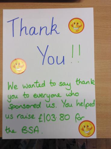 In the end we actually raised £131.