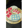 Our fabulous numbers cake by Liz. Thank you!