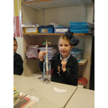Then placed our flower in the bottle.
