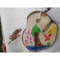 Tree cookie pendant.