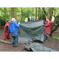 Waterproof shelter building.