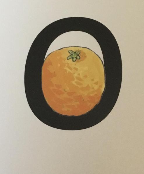 """All around the orange."""