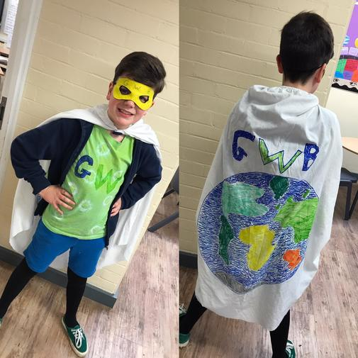 Amazing costume made by Alex, in year 4!
