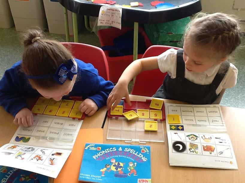 The stilo boards help develop our literacy skills.