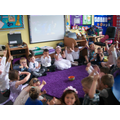 Class 1 gave the thumbs up for the potatoes!