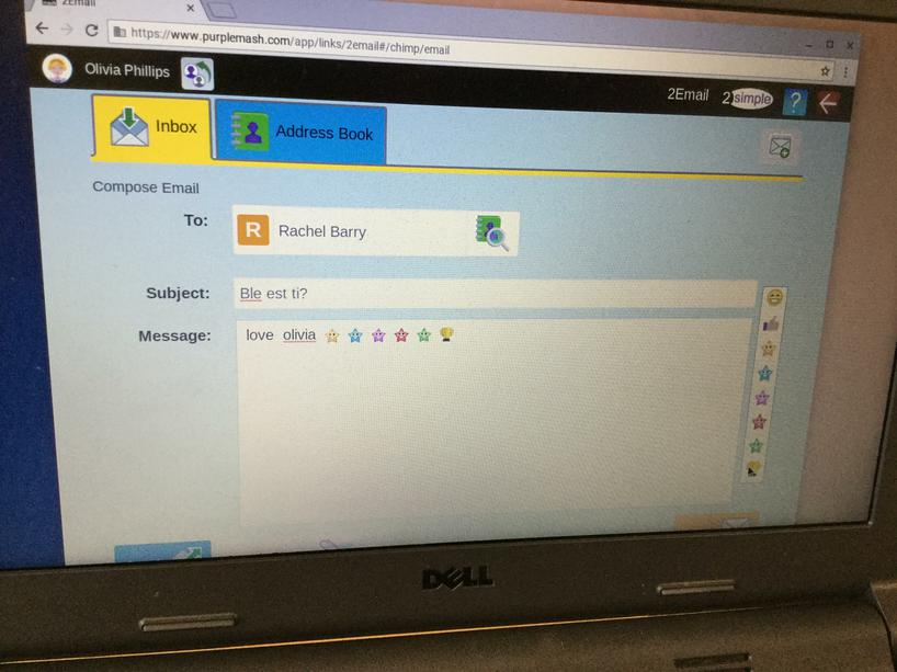 Emailing Mrs Barry in Welsh!