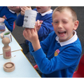 5. Making newspaper plant pots - biodegradable!