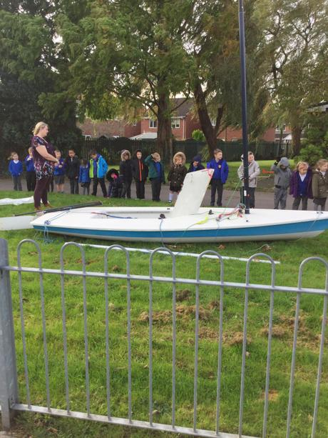 Mr Wells showed us his boat to help us make ours.