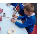 4. Making newspaper plant pots - biodegradable!