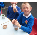 3. Making newspaper plant pots - biodegradable!